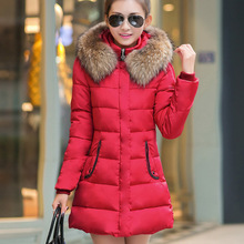 Women s long winter size slim dress down cotton jacket thick winter coat winter jacket coat