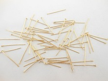 Free Shipping 200 Pcs Fashion Metal Flat Head Pins Jewelry Accessories Silver Gold Accessories WC25