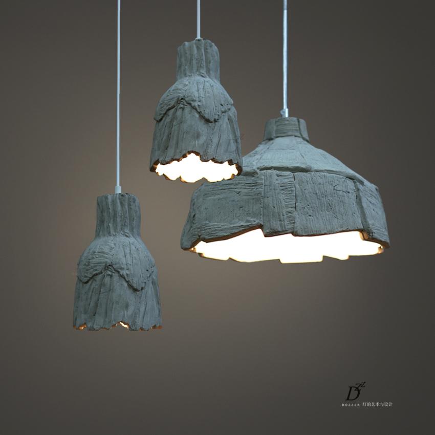 Здесь можно купить  Hand Made DIY Kitchen Cave Lamp Cement + Pottery Vintage Pendant Lamp For Dining Room Bar Ikea Retro Pendant Lights Lustres  Свет и освещение