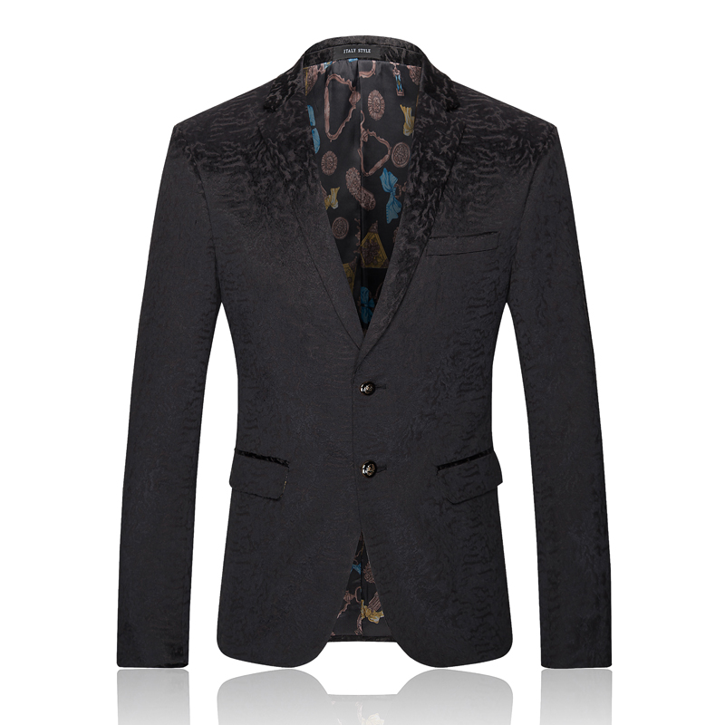 High Quality Casual Slim Fit Blazer Men Black Velvet Blazer Homme 2016 New Arrival Brand ...
