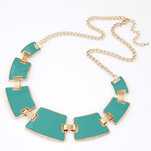 Punk Geometric Necklaces Collier Gold Plated Enamel Torques Fashion Statement Choker Collares Femininos for Women Jewelry 2014