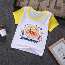 2019 nueva camiseta de manga corta de verano para niños, camiseta de dibujos animados para bebés y niñas, Camiseta de algodón de calidad para niños(China)
