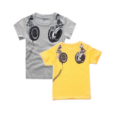 New Fashion Boy Kids Summer Clothing Casual 3D Headphone Short Sleeve Tops Blouses T Shirt Tees Clothes FY36