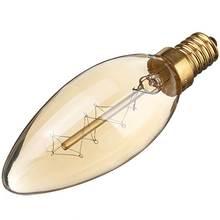 Buy Hot Sale 40W E14 Vintage Antique Edison Candle Chandelier Light Filament Incandescent Clear Glass Pendant Bulb Lamp 110V/220V for $1.49 in AliExpress store