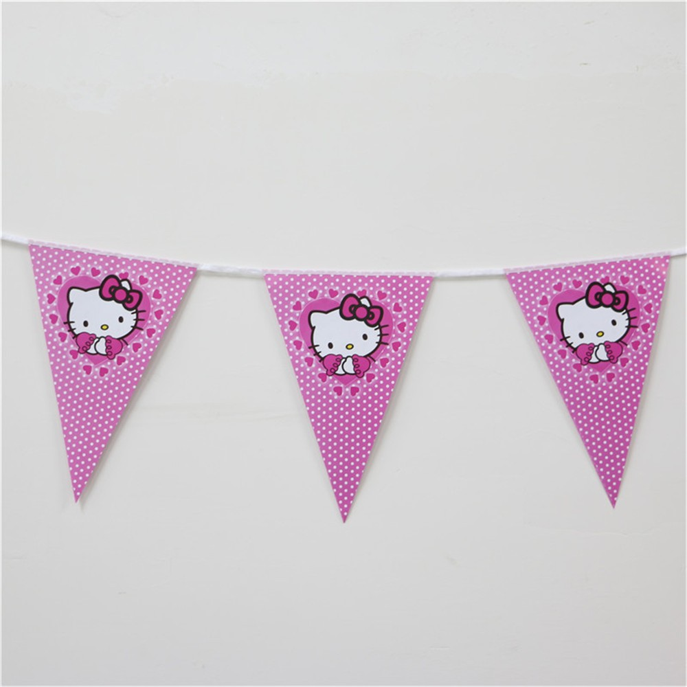 1pcs-Cartoon-Theme-Paper-Flag-Favors-For-Kids-Girls-Birthday-Decoration-Party-Banner-Bunting-Event-Party