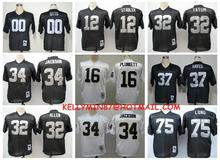 Stitiched,Oakland Raiders,Jim Otto,Kenny Stabler,Jim Plunkett,Jack Tatum,Marcus Allen,Bo Jackson,Ronnie Lott,Howie Long,T.Brown(China (Mainland))