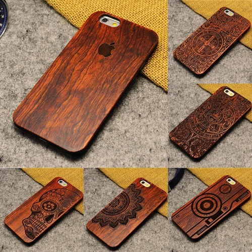 Cool 100% Genuine Wood Shell For Apple Iphone 5s Cover Wooden Case Natural Bamboo Back Cover For Apple Iphone 5 /5s(China (Mainland))