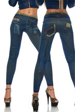 One size Stretchy Jean look Fashion legging for women sexy Leggins Slimming Jeggings Wholesale free shipping 9048-9059