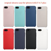 ВЫСОКОЕ Качество Оригинала Новый Официальный Case для iphone 6 7 Case Силиконовые Back Case Cover For Apple iPhone 6 6 S 7 Плюс Для iphoen 6 S(China (Mainland))