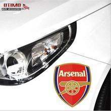 Free Shipping Europe Top Club Arsenal FC Car Head Stickers Truck Door Tail Decor Mural Art Vinyl Decoration Soccer Window Decals(China (Mainland))