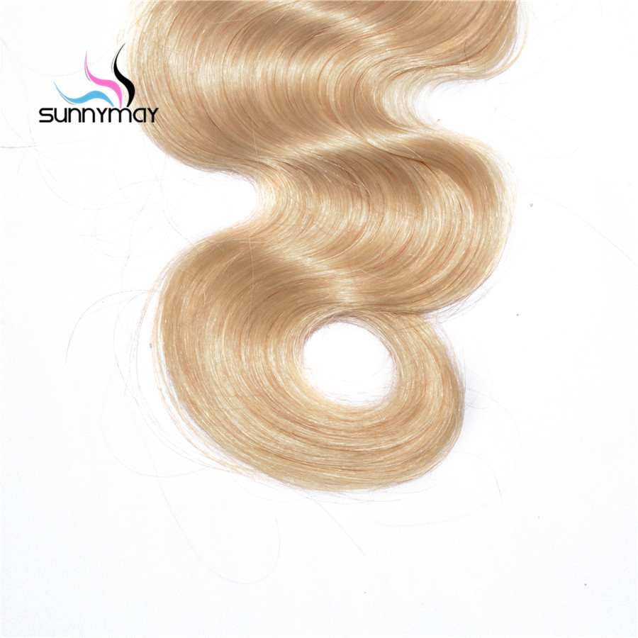 Sunnymay Body Wave Blonde Brazilian Remy Hair Weaving 613 Color Double Weft Human Hair Bundles Free Shipping