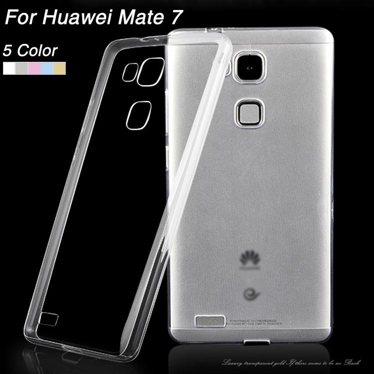 Гаджет  0.3mm slim transparente soft tpu case For Huawei Ascend Mate 7 cover for Mate7 None Телефоны и Телекоммуникации