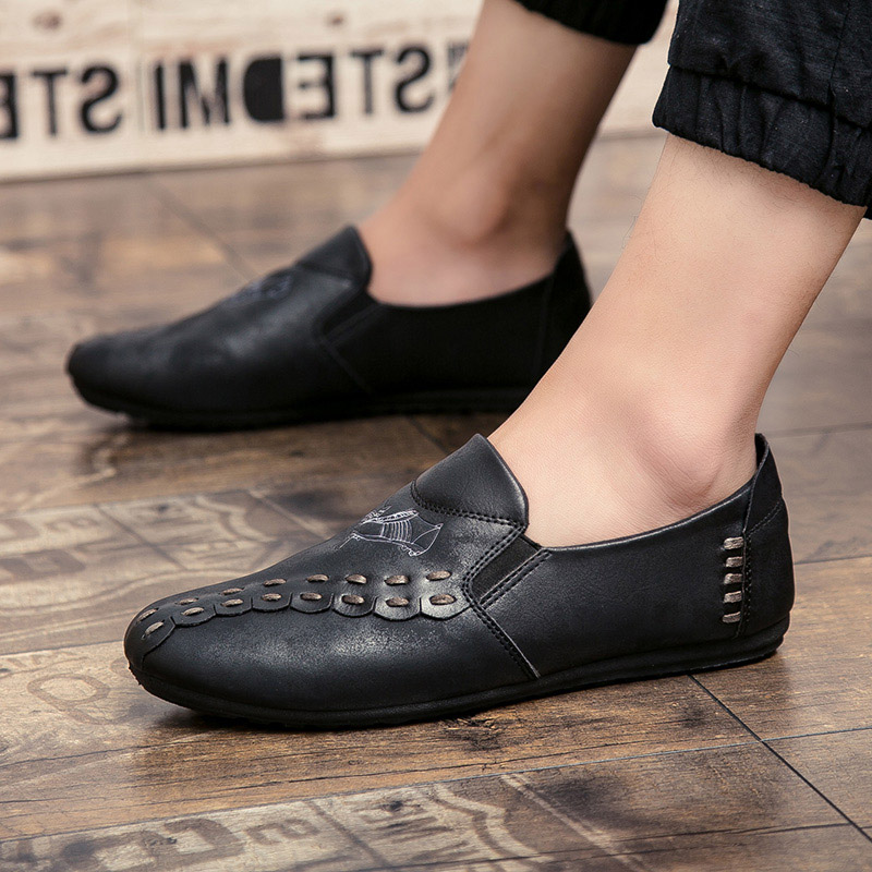 new solid color men casual shoes hot sale 2017 footwear men's cool loafers luxury brand slip on moccasins fashion shoes for men (10)