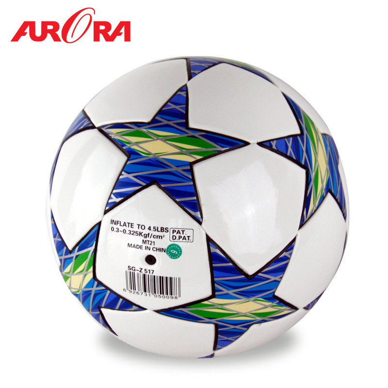 12 Color Top Grade Fashion Size 5 Anti-slip Pure Hand Sewn Soft TPU League Soccer Football Ball For Training Competition(China (Mainland))