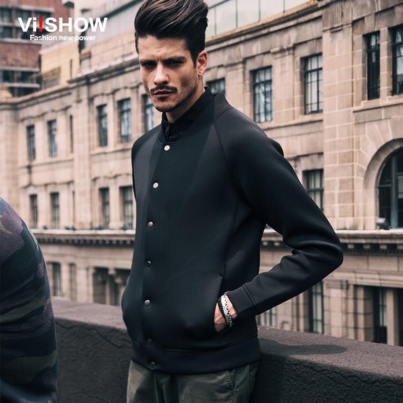 VIISHOW 2015 Winter Men Jacket Coat Solid Sport Outdoor Casual Jacket Men Slim Fit Black Baseball Men Jacket Men Clothes