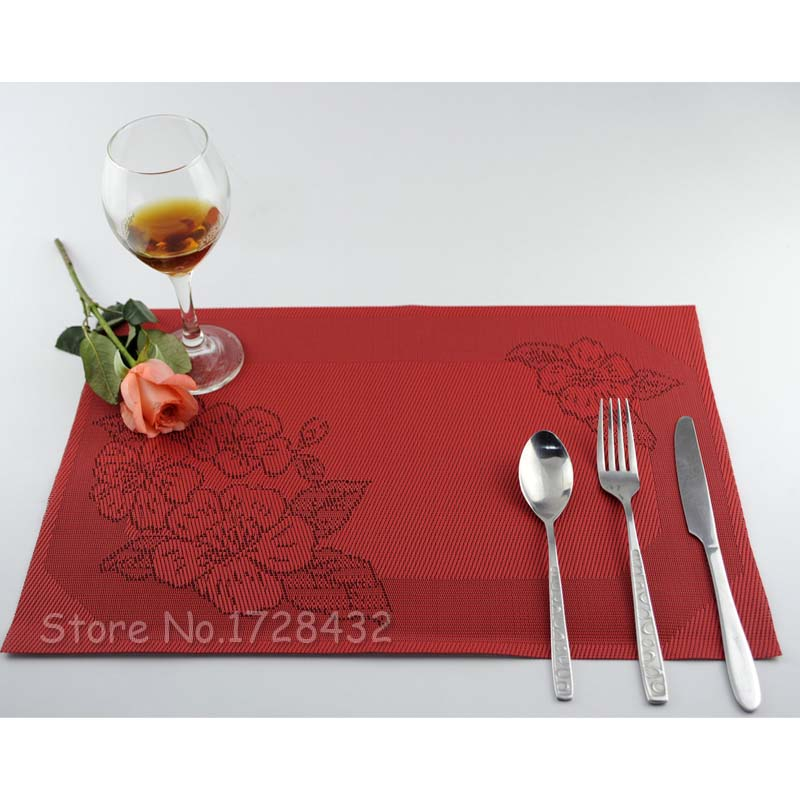 Rectangle 30*45cm Silicone Place Mats Heat Resistant Non Slip Table Mats 47 C0065(China (Mainland))