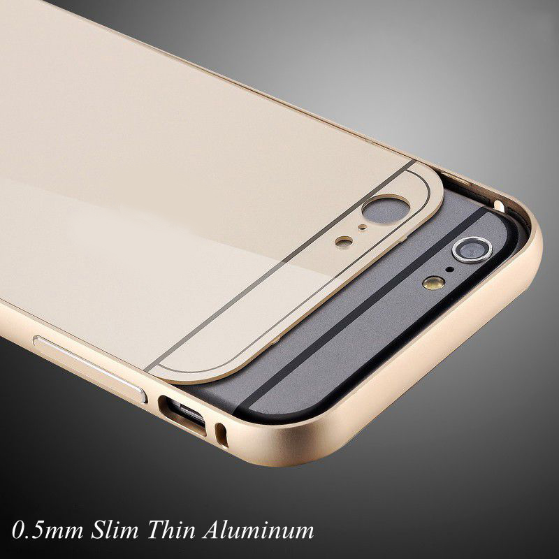 with LOGO !! Metal Aluminum +Acrylic Back Cover for Apple iphone 6 4.7 Accessories Hybrid Luxury Case for Apple iphone6 Plus 5.5(China (Mainland))