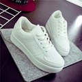 New 2016 fashion spring summer breathable women casual shoes female white single shoes lace up round