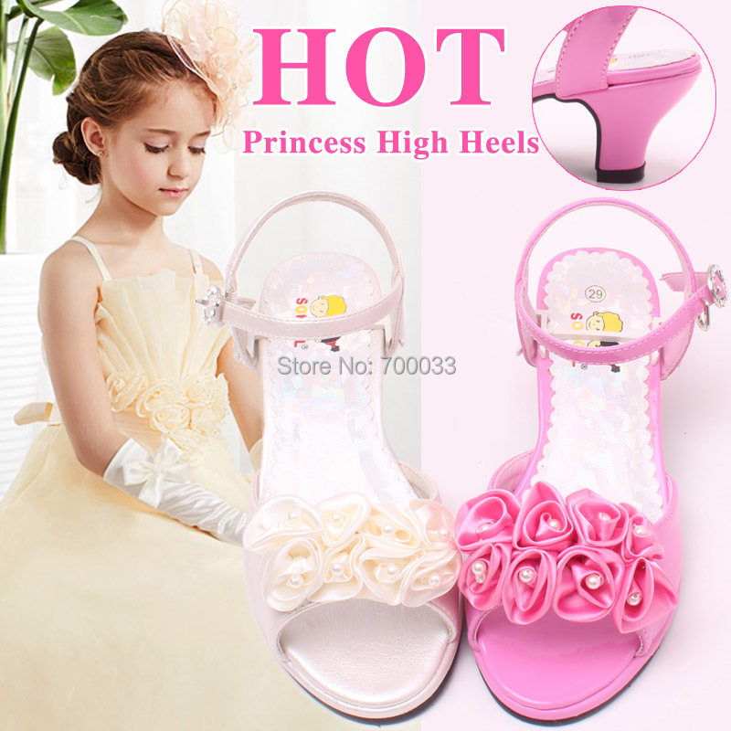 SoKoll Brand! High Quality Pink Flower Princess Shoes Girls Party Sandals Free Shipping<br><br>Aliexpress