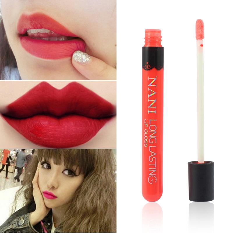 Hot Sales Women Ladies Waterproof Elegant Color Lipstick Matte Smooth Lip Stick Lipgloss Long Lasting Sweet Girl Lip Makeup