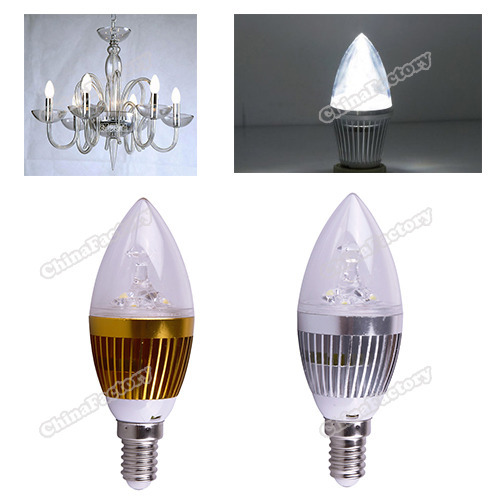 chinafactory quality assurance E14 3W Pure White Dimmable LED Light Bulb Lamp 85-265V Candle Spotlight buying quickly(China (Mainland))