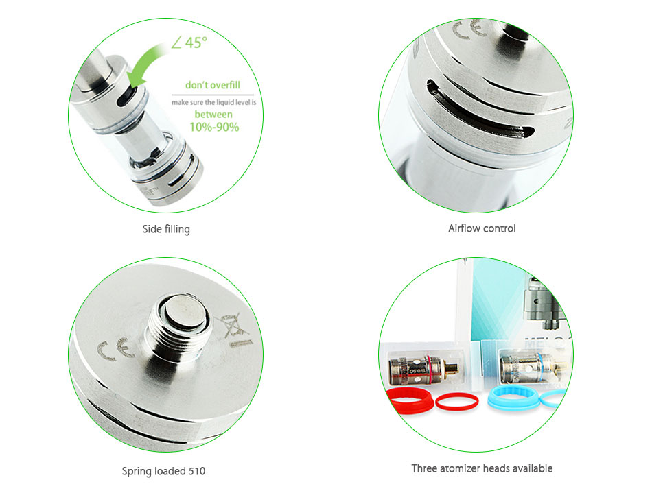ถูก ของแท้100% Eleaf Melo 2เครื่องฉีดน้ำถัง4.5มิลลิลิตรปรับการไหลของอากาศSubohm Melo IIเครื่องฉีดน้ำบุหรี่อิเล็กทรอนิกส์ด้านบรรจุถัง