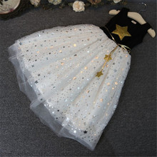 Buy New Fashion Kids Baby Girls Dress Stars Sequins Tulle Bow Toddler Tutu One Piece Dress Children Princess Dresses Fit 1-11 Years for $5.98 in AliExpress store