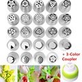 2016 new arrive cake decorating tools 24PCS Russian Icing Piping Nozzles Tips Cake Decorating Sugarcraft Pastry
