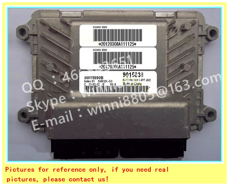 For Wuling car engine computer board/ECU/ Electronic Control Unit/Car PC/ 5WY5890B 9015836 /Trip computer(China (Mainland))