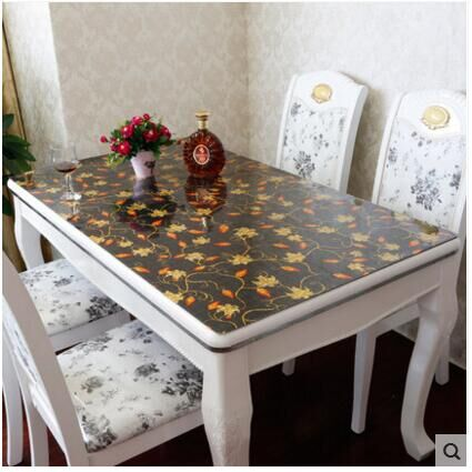 PVC waterproof cloth soft translucent glass plastic table cloth 1mm(China (Mainland))
