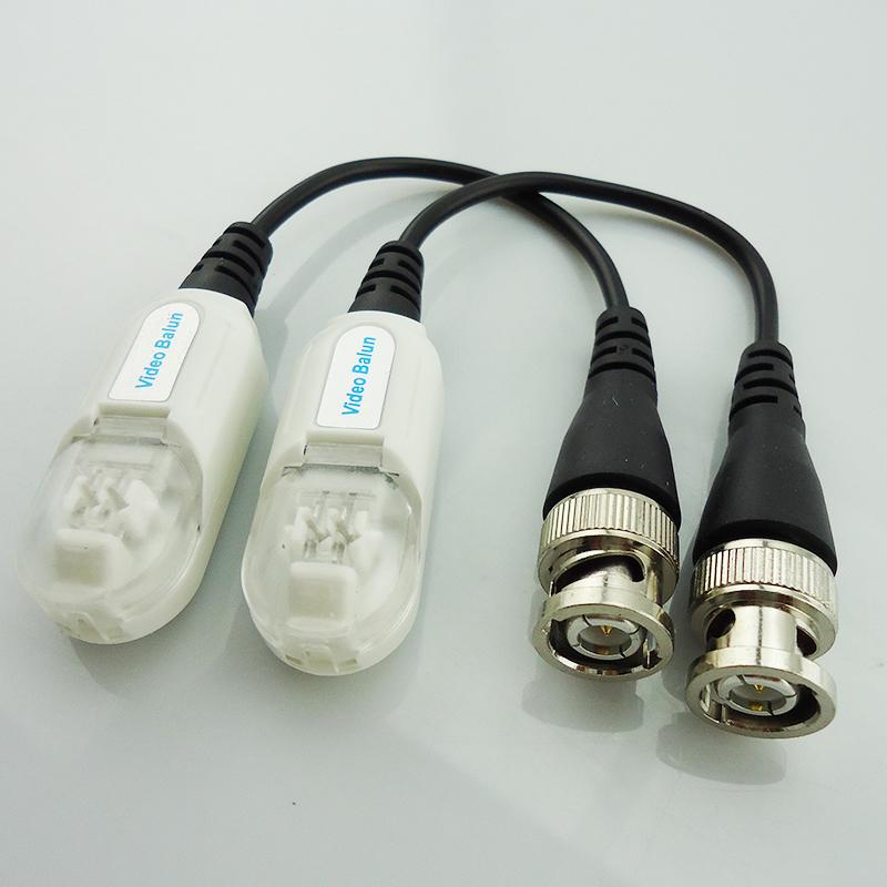 10pcs/lot Waterproof Single Channel Passive Video Balun UTP Transceiver BNC Male Twisted Pair Transmitter 200M Passive Lightning(China (Mainland))