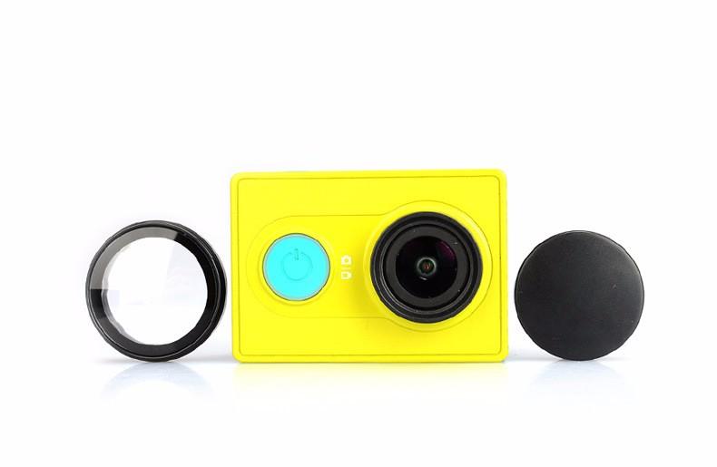 Xiao mi yi Camera UV Filter Lens Protector Camera Lens Cap Cover For Original Xiao mi yi xiaoyi Action Sport Camera Accessories
