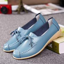 Buy 2017 Women's Flats Shoes Women Ballet Flats Ladies Shoes Slip Genuine Cow Leather Shoes Ballet Flats for $13.06 in AliExpress store
