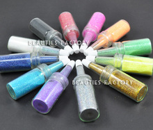 Beauties Factory 12 Colour x Bottle Nail Art Glitter Dust Decoration