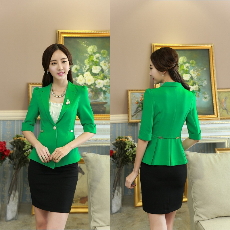 High quality 2015 women skirt suit office uniform designs for Office uniform design 2015