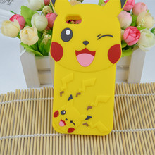 Buy 3D Cute Cartoon Pikachue Silicone Cases Apple iPhone 4s 5S SE 6s 6G 7 7 plus Skin Phone Back Cover Funda Coque for $2.95 in AliExpress store