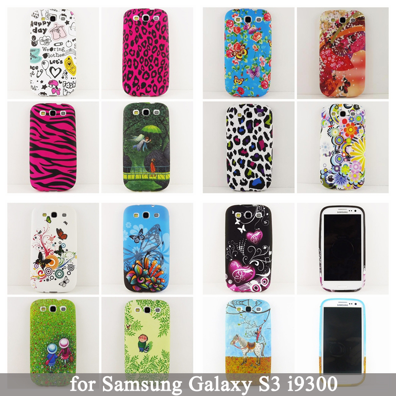 for Samsung Galaxy S3 Case,Butterfly flower Leopard Owl Soft Silicone Case for Samsung Galaxy S3 i9300 Cell Phone Cases Cover(China (Mainland))