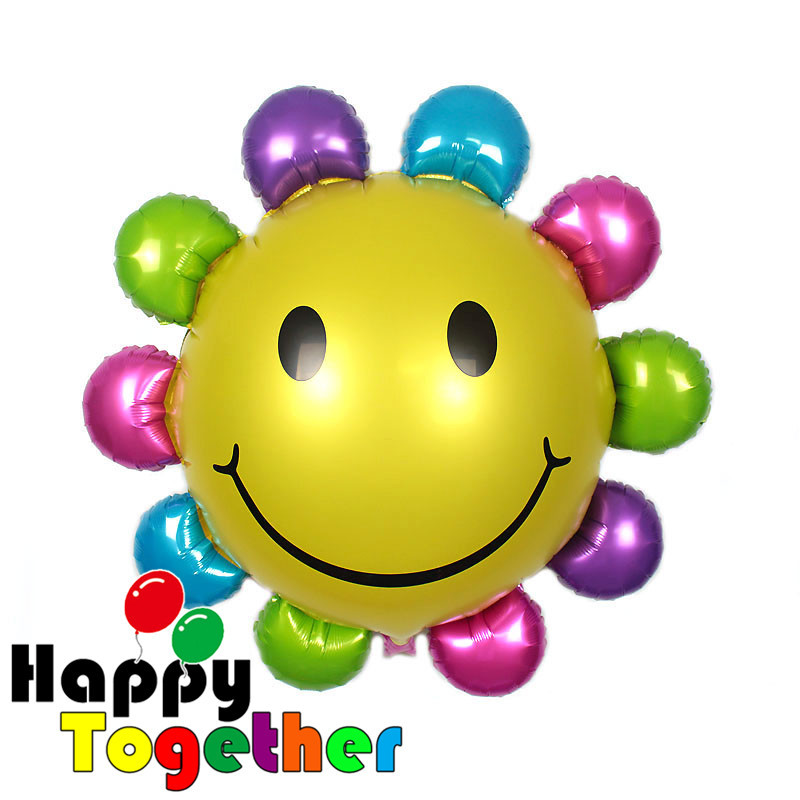 SMILE MARKET 2015 Hot Sale 1 Piece Birthday Party Decorations Sunflowers Inflatable Foil Balloon 85*83cm(China (Mainland))
