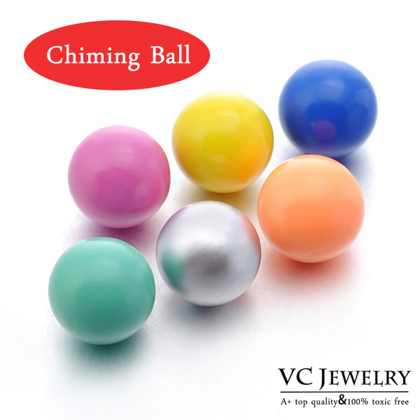 Multicolor 16mm Chime Ball Copper Metal Materials for Pendants Maternity Necklace (VA-007) Free Shipping(China (Mainland))