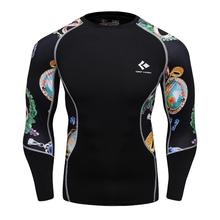 Buy Mens Compression Shirts Bodybuilding Skin Tight Long Sleeves Jerseys Clothings Crossfit Exercise Workout Fitness Sportswear for $11.98 in AliExpress store