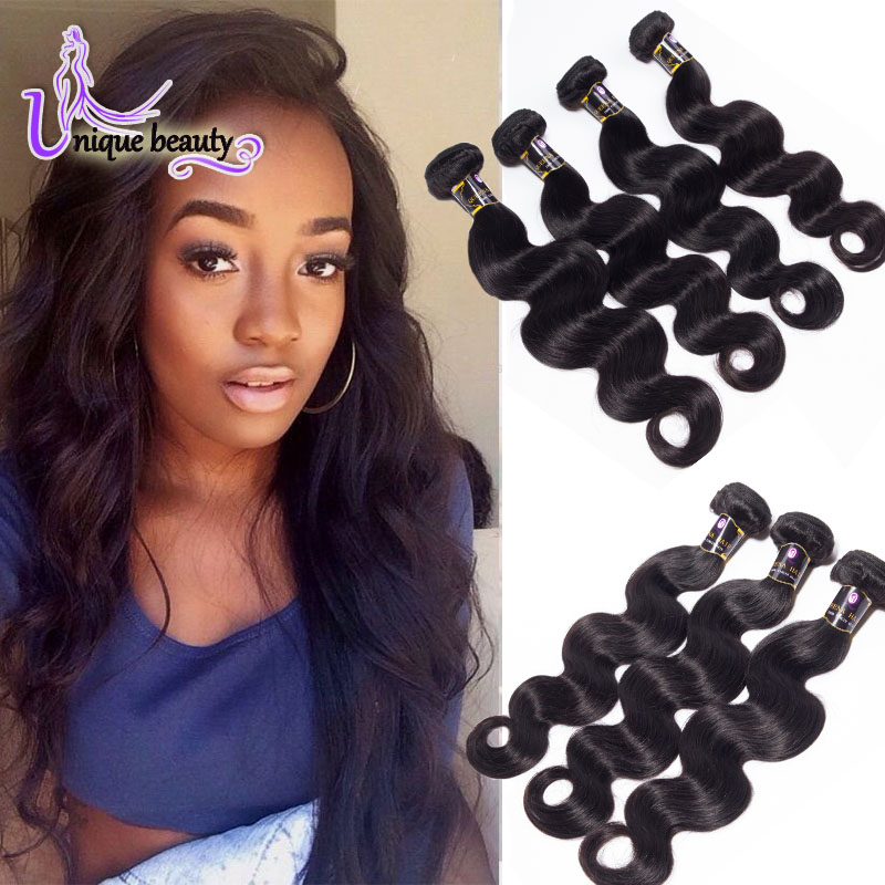 7A Unprocessed Brazilian Body Wave Virgin Hair Unice Hair 4 Bundles Brazilian Virgin Hair Body Wave 100 Human Hair Weave Brands