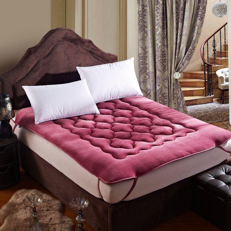 Perezoso colchones cachemir engrosado fold colch n cama doble dormitorio colch n tatami en - Colchon tatami ...
