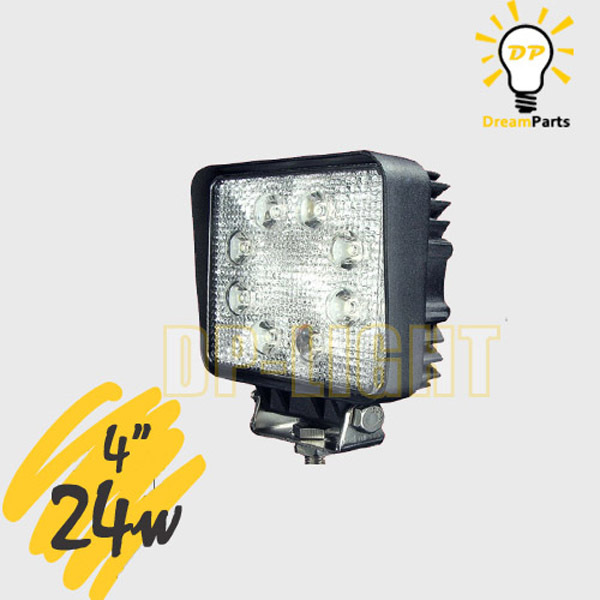 Led Lights For Tractor Trailers : W square quot spot flood led lamp motorcycle tank boat