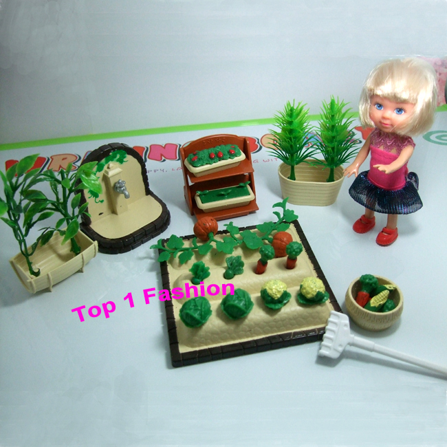 New arrival birthday gift for girls play house 1/12 mini doll furniture working in farm for mini kelly barbie doll<br><br>Aliexpress