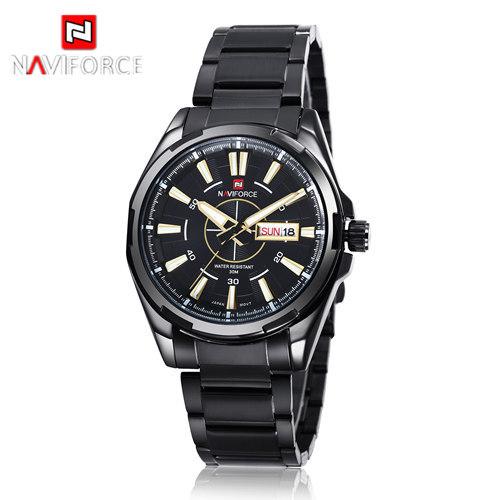 new arrival stainless steel quartz 2015 brand watch NAVIFORCE clock mens wrist analog Waterproof Fashion & Casual(China (Mainland))