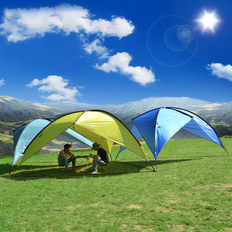 Sun Shelter UV Oversized Outdoor Camping Tent Picnic Pergola Shade Canopy Beach Tent Camping Beach Sun Shelter Canopy(China (Mainland))