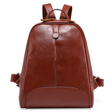2016 Fashion Designe Women Backpack Genuine Leather Female Backpack Women Schoolbag For Girls Large Capacity Shoulder Travel Bag(China (Mainland))