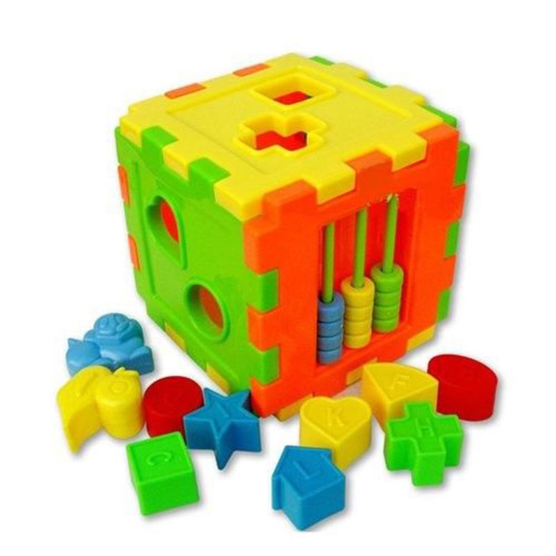 Colorful Block Magic Cube Toys Baby Educational Great Shape Sorting Kids Gifts(China (Mainland))