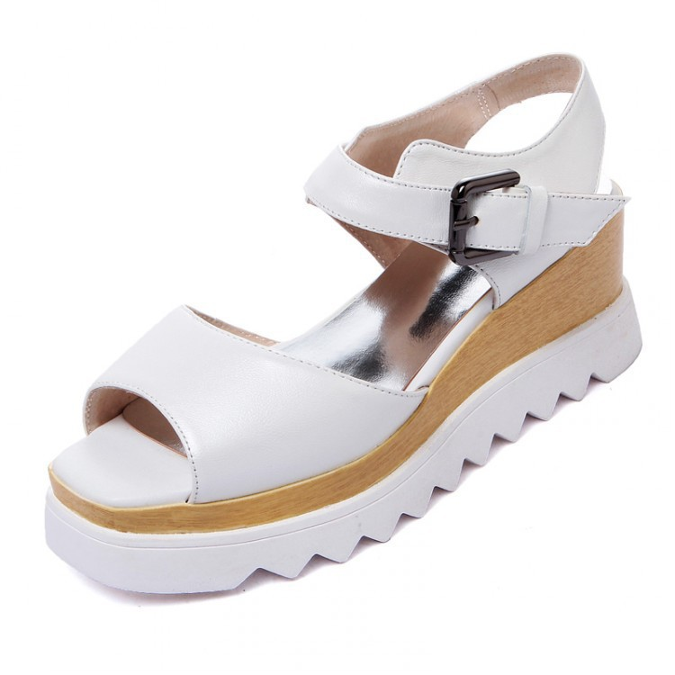 On behalf of the new 2016 platform shoes leather shoes for Fish head shoes