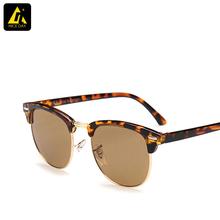 Rb 3016 clubmaster gafas de sol hombres óvalo clásico Retro banda Original de gafas de sol para mujer wayfarer moda al aire libre gafas gafas(China (Mainland))